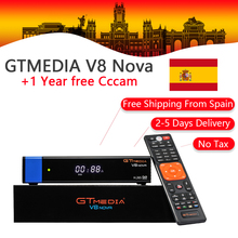 GT Media V8 Nova DVB-S2 Freesat Satellite Receiver H.265 built-in WIFI RCA+1 Year Europe Spain CCcam TV Box PK V8 Super Receptor