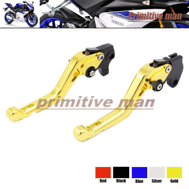 ФОТО For YAMAHA YZF R125 2008-2011 Motorcycle Accessories Short Brake Clutch Levers Gold