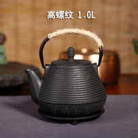 Cast iron pot of uncoated iron teapot in southern Japan iron pot of old iron pot with filter cooking pot boil water on sale