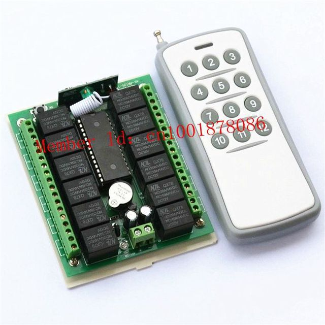Free Shipping 12 CH RadioController RF Wireless Remote Control Switch RF Wireless Switch system (transmitter and receiver)