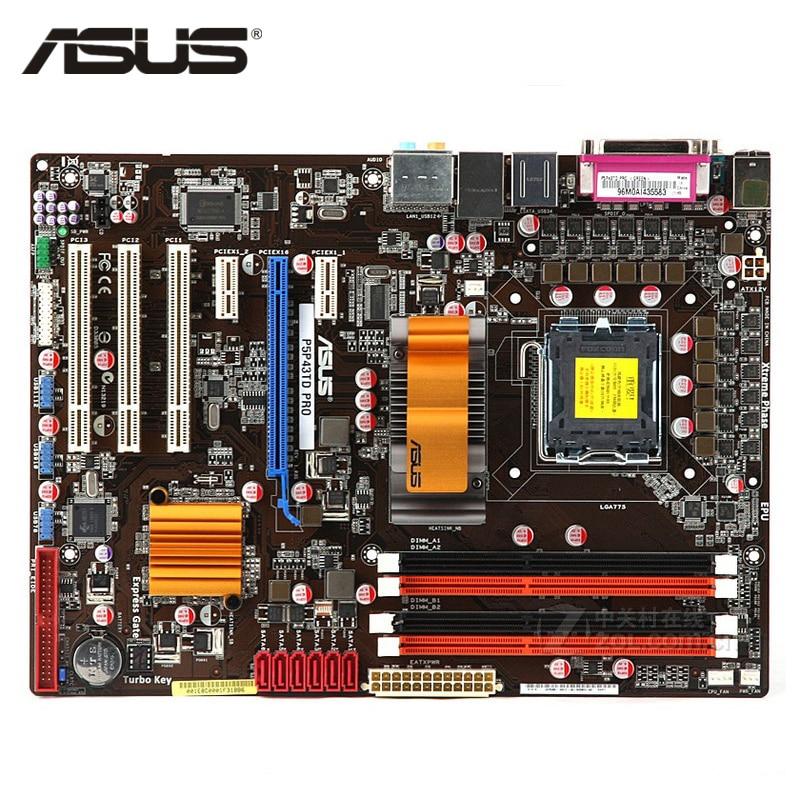 ASUS P5P43TD PRO Motherboard LGA 775 DDR3 16GB For Intel P43 P5P43TD PRO Desktop Mainboard Systemboard SATA II PCI-E X16 Used