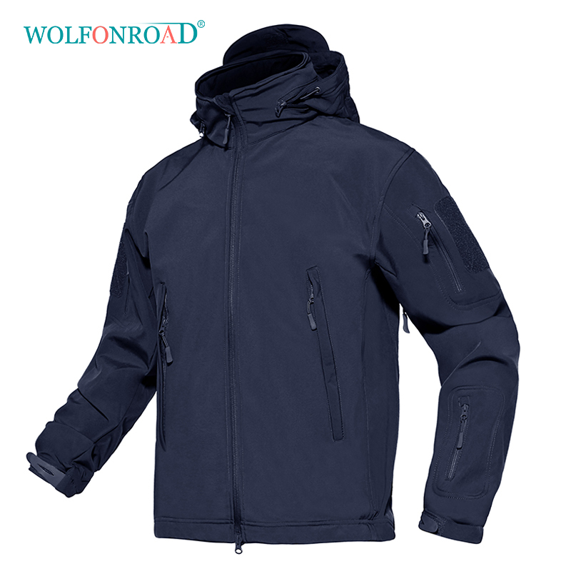 WOLFONROAD Men Tactical Military Jackets Softshell Hiking Jacket Coat Outdoor Sport Clothes Waterproof Windproof Winter Jacket 2017 new brand outdoor softshell jacket men hiking jacket winter coat waterproof windproof thermal jacket for hiking camping ski