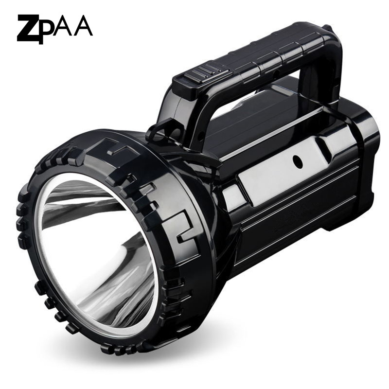 Super Bright LED Searchlight 2 modes Handheld Rechargeable LED Portable Spotlight Flashlight Torch Lamp Buit in 2800mah Battery-in LED Flashlights from Lights & Lighting on ZPAA Official Store