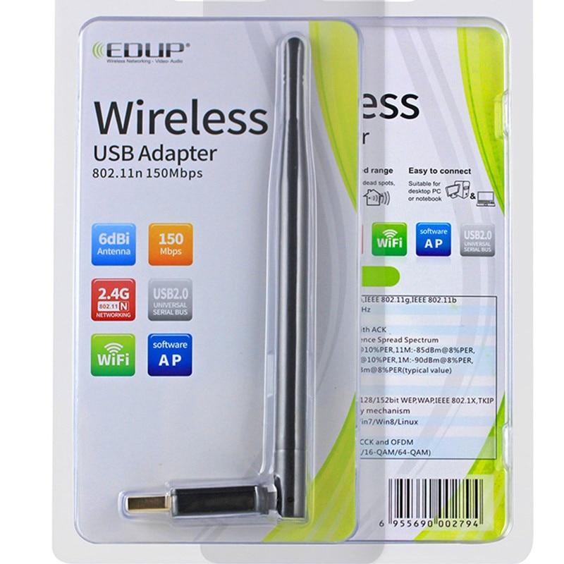 EDUP უკაბელო wifi ადაპტერი 6dBi - ქსელის აპარატურა - ფოტო 5