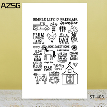 AZSG My farm Clear Stamps For DIY Scrapbooking/Card Making/Album Decorative Silicon Stamp Crafts