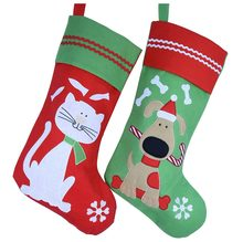 e431a37d123 Cozfay Free Dropshipping 1pc Lovely Embroidered Pets Pattern Christmas  Stockings Dog or Cat 16-Inch