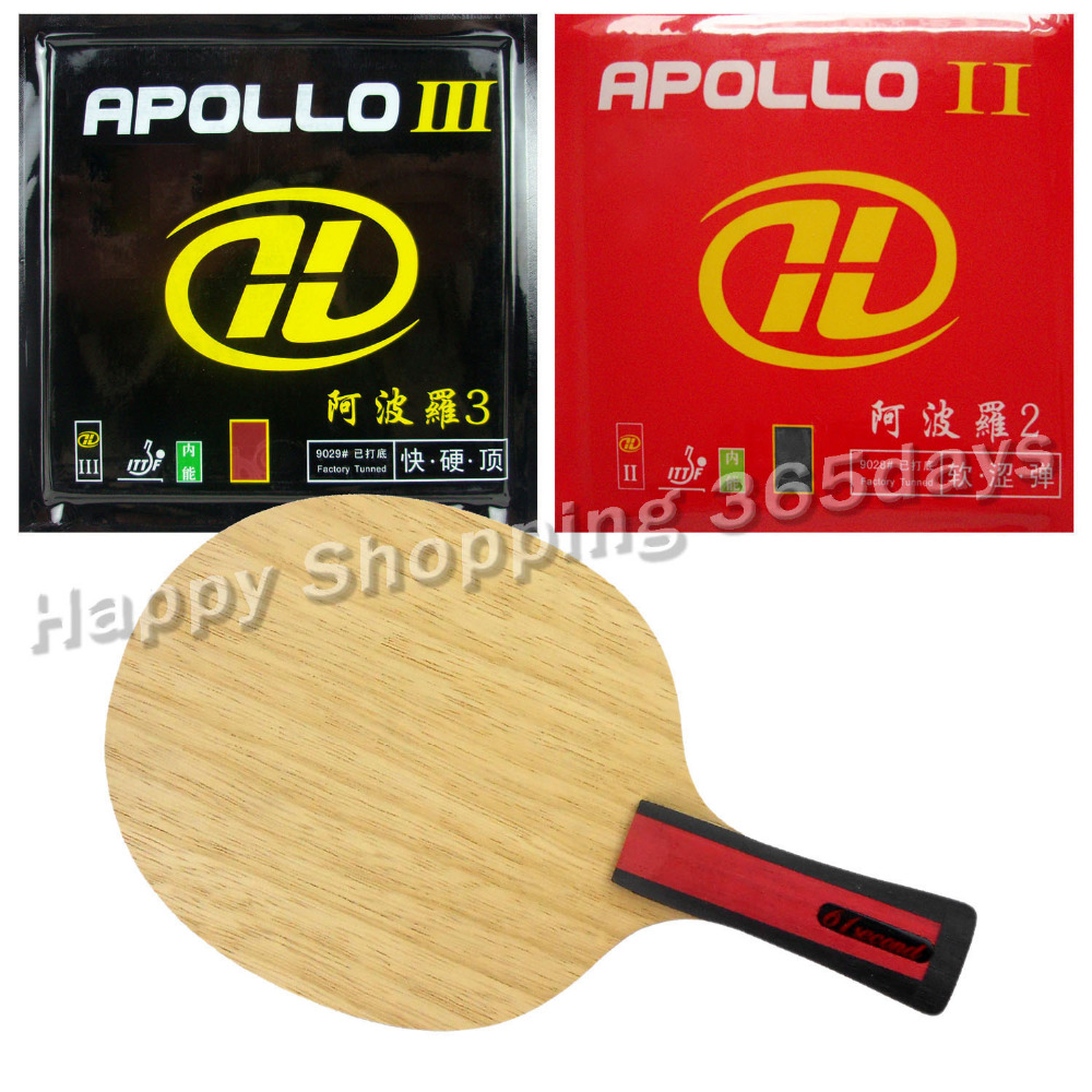 ФОТО Pro Table Tennis PingPong Combo Racket 61second 3004 with Galaxy Apollo II and Apollo III Factory Tuned Long Shakehand FL