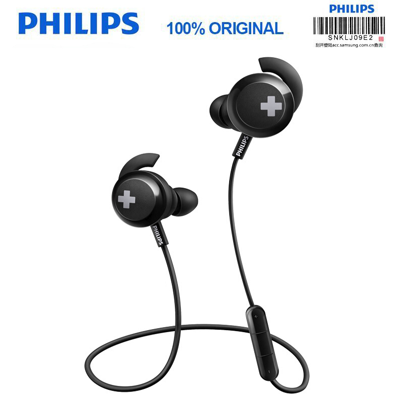 Philips SHB4305 Bass+ Bluetooth 4.1 Wireless Neckband Headphones Noise Reduction Function with Microphone Official Verification все цены