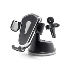 Car Phone Gravity Holder No Magnetic Universal Car GPS Navigation Stand Car Air Vent Clip Suction Cup For IPhone Xiaomi Huawei jx 1 020 universal car suction cup stand holder for cellphone gps blue