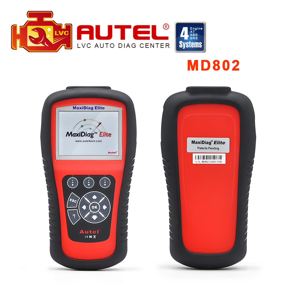 100 original autel maxidiag elite md802 code scanner md 802 update online with 4 systems