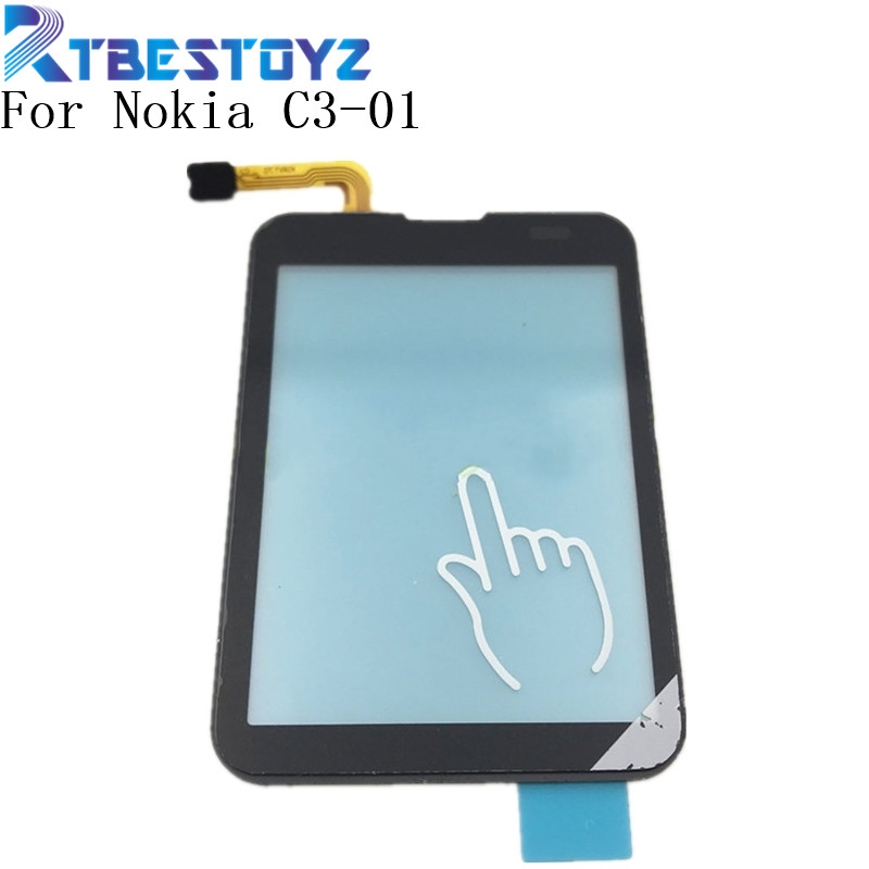 RTBESTOYZ 100% Tested Original Touchscreen For Nokia C3-01 C3 01 Sensor Touch Screen Digitizer Front Glass
