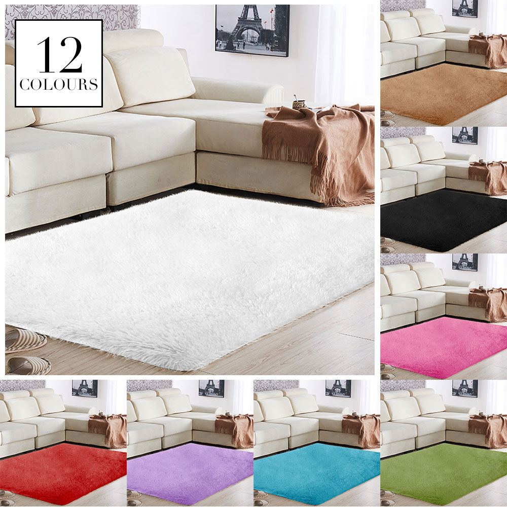 Home Sofa Decoration Carpet Floor Fluffy Rugs Bright Area Rug Multicolored Living Room Bedroom Mat Warm Shaggy Polyester Fiber