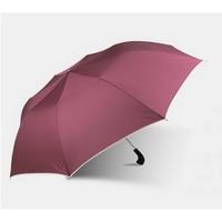 170206 Dual Folding Leather Handle Manual Umbrella Men Large Strongly Sun Rain Folding Umbrella High Quality