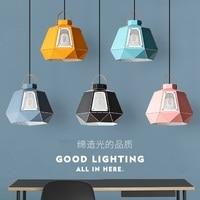 Colored Nordic Aluminum Pendant Light Modern simplicity Pendant Lamp for living room bar restaurant foyer dining room lighting