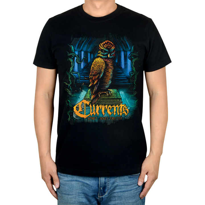 4 дизайна Летний стиль токи Сова рок брендовая футболка хлопок панк фитнес тяжелый рок готический Металл черные рубашки скейтборд - Цвет: 2