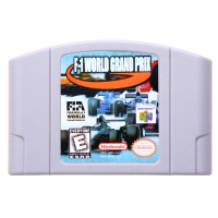 N64Game F-1 World Grand Prix Video Game Cartridge Console Card English Language US Version (Can Save)