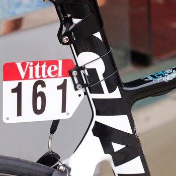 Montura de aluminio para placa de carreras, bicicleta de carretera, triatlón, soporte de placa personalizada DIY, soporte de tarjeta, calcomanías planas Aero Seatpost Vittel