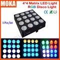 Matriz 4X4 Levou luz Em Movimento Da Cabeça Luz Matriz DMX Movendo Feixe de Luz Cabeça