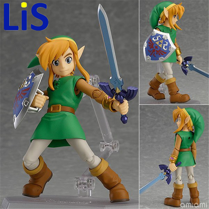 Lis The Legend of Zelda 2: A Link Between Worlds Link Figma 284 PVC Action Figure Collectible Model Kids Toys Doll 14CM anime the legend of zelda 2 a link between worlds link figma 284 pvc action figure collectible model kids toys doll 10 5cm