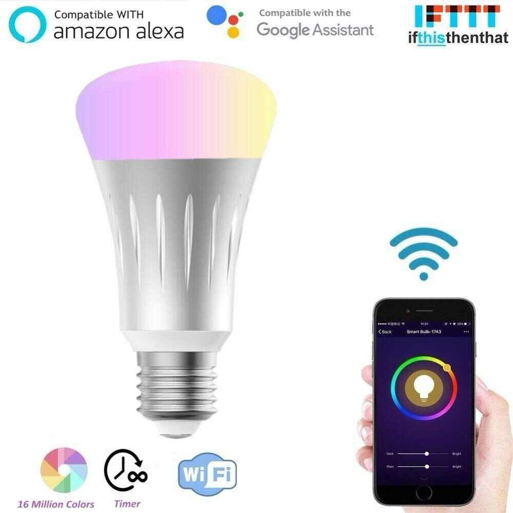 Smart Bulb E27 WiFi Light Bulb Edison Bulb Compatible With Google