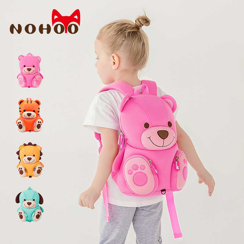 fb319b6602fa Nohoo Animal Dall Pattern Kids School Bag Cute 3D Anti-lost Backpack  Preschool Backpacks for