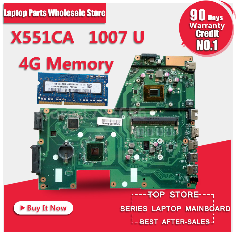 HOT!!! For ASUS X551CA Laptop motherboard X551CA mainboard REV2.2 1007u 100% tested new motherboard sheli original x551ca motherboard for asus x551ca f551c f551ca laptop motherboard tested mainboard 1007u rev2 2 notebook