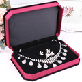 bride necklace gift box chain sets carrying cases necklace earring jewelry organizer gift packaging jewelry display tray boxes