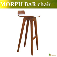 Free shipping U-BEST high quality solid wood counter chair Morph Bar Chair,high comfort and stability distinguish  bar stool