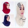 2016 moda bufanda de las mujeres de alta calidad interior Indonesio Turco istamic estilo bufanda musulmán hijab