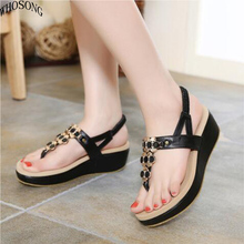 WHOSONG Summer Comfortable Sandals Women Platform Fashion Flip Flops Shoes Woman 35-40 M142
