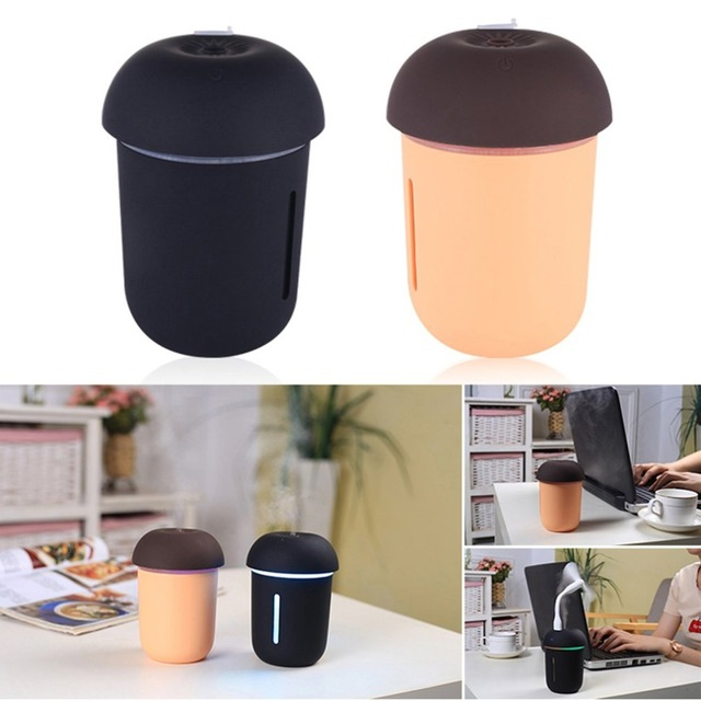 Creative Mushroom Lamp LED Humidifier Home Air Diffuser Purifier Atomizer Essential Oil Diffuser Home Office Portable Mist Maker