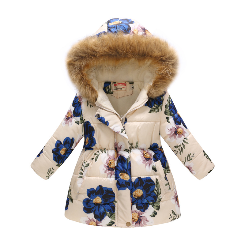 Winter Girls Warm Down Jackets Kids Fashion Printed Thick Outerwear Children Clothing Autumn Baby Girls Cute Jacket Hooded Coats (8)