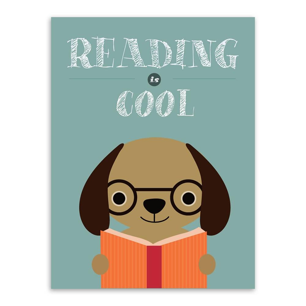Good Study Cute Animal A4 Poster Print Abstract Lion Math Dog ...