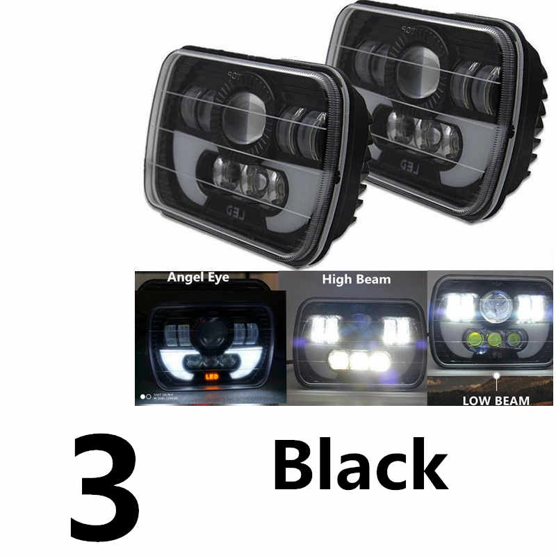 5x7 Inch 6x7inch Led Truck Headlight Square Led headlight H4 High Low Beam with DRL For Jeep Cherokee XJ