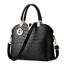 Famosa marca de diseño Mujeres de Lujo bolsos de cuero del mensajero bolsos de cocodrilo patrón de bolso de Hombro de Las Señoras bolsos Crossbody de las mujeres