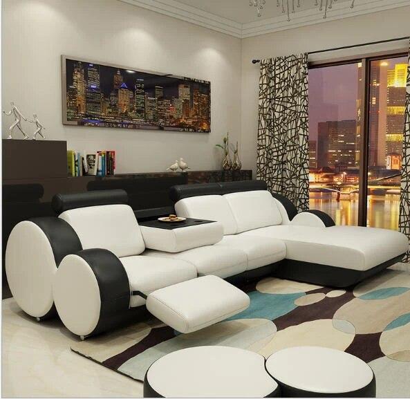 canape d angle meuble de salon design moderne minimaliste en cuir de vachette veritable