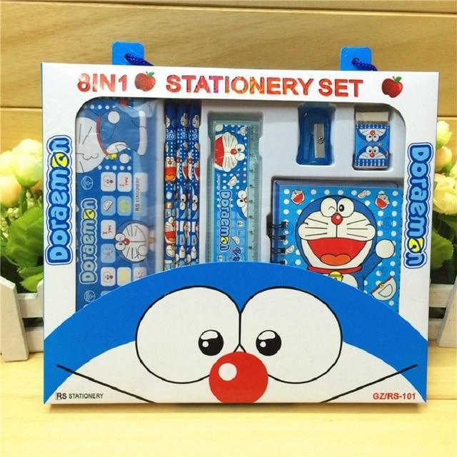 Kartun Doraemon Pensil Box Set Alat Tulis Siswa Hadiah Kotak