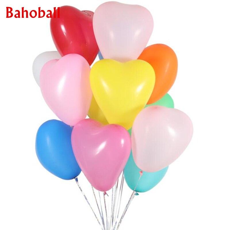 10 шт. красные, розовые, белые воздушные шары 10 дюймов, латексные воздушные шары «сердце», Гелиевый шар, надувные шары на День святого Валенти...