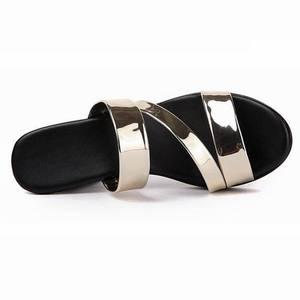 Image 4 - GKTINOO sandalias deslizantes para mujer, zapatos de tacón alto grueso, con plataforma, para verano, 2020