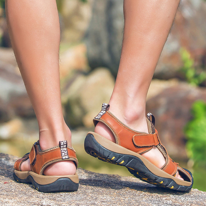 Valstone marka Genuine leather Sandals Men 2018 Vruće prodajne - Muške cipele - Foto 5