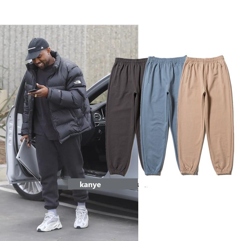 Kanye West SEASON 6 TRACKPANTS 3 Colors 2019 New Arrival Skateboards Men Narrow Feet Cotton Sweatpants Hip Hop SEASON 6 Pants