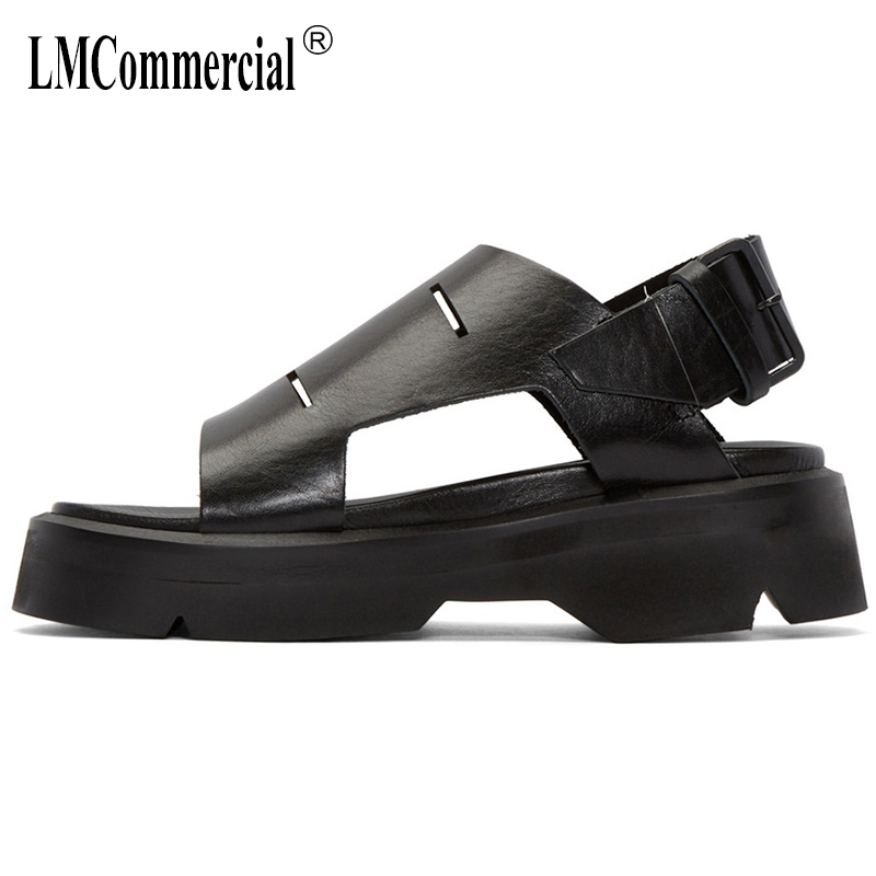 Summer men's Genuine leather sandals men casual beach shoes all-match cowhide breathable Sneakers Slippers Flip Flops outdoor summer sandals women leather breathable mesh outdoor super light flats shoes all match casual shoes aa40140