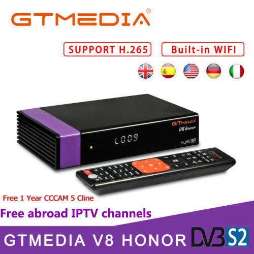 GTmedia V8 Honor DVB-S2 Digital Satellite Receiver Decoder Built-in WiFi 1080P Full HD with 1 Year Europe CCCAM PK V7 HD V8 NOVAGTmedia V8 Honor DVB-S2 Digital Satellite Receiver Decoder Built-in WiFi 1080P Full HD with 1 Year Europe CCCAM PK V7 HD V8 NOVA