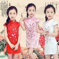 Summer Girls Dresses Children Clothes Kids Girls Princess Dress Girls Cheongsam Dress Wedding Party Costume Children