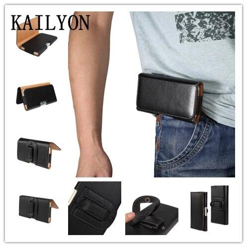 KAILYON 5.5 «-5.7» De Luxe En Cuir Hommes Taille Sac Clip Ceinture Poche Mobile Téléphone Étui Housse pour Microsoft Nokia Lumia 950 XL