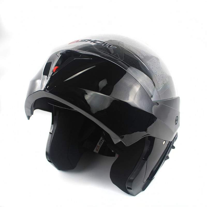 2017 New Arrivals Best Sales Safe Flip Up Double Lens Motorbike Helmet With Inner Sun Visor Helmets Motorcross Racing Helmet WH