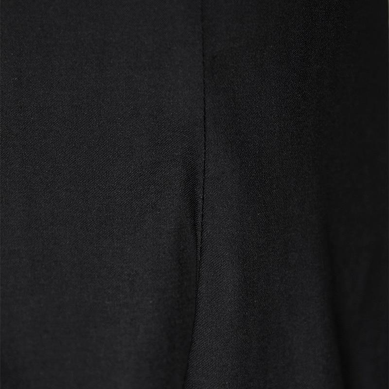 Corta Vestito Black Doppio Nuova Pizzo Mid Estate Sirena Abbigliamento Di Strato Ufficio Manica vitello Patchwork Elegante Donne Delle Neck O Signore Abiti vCT0Rnq
