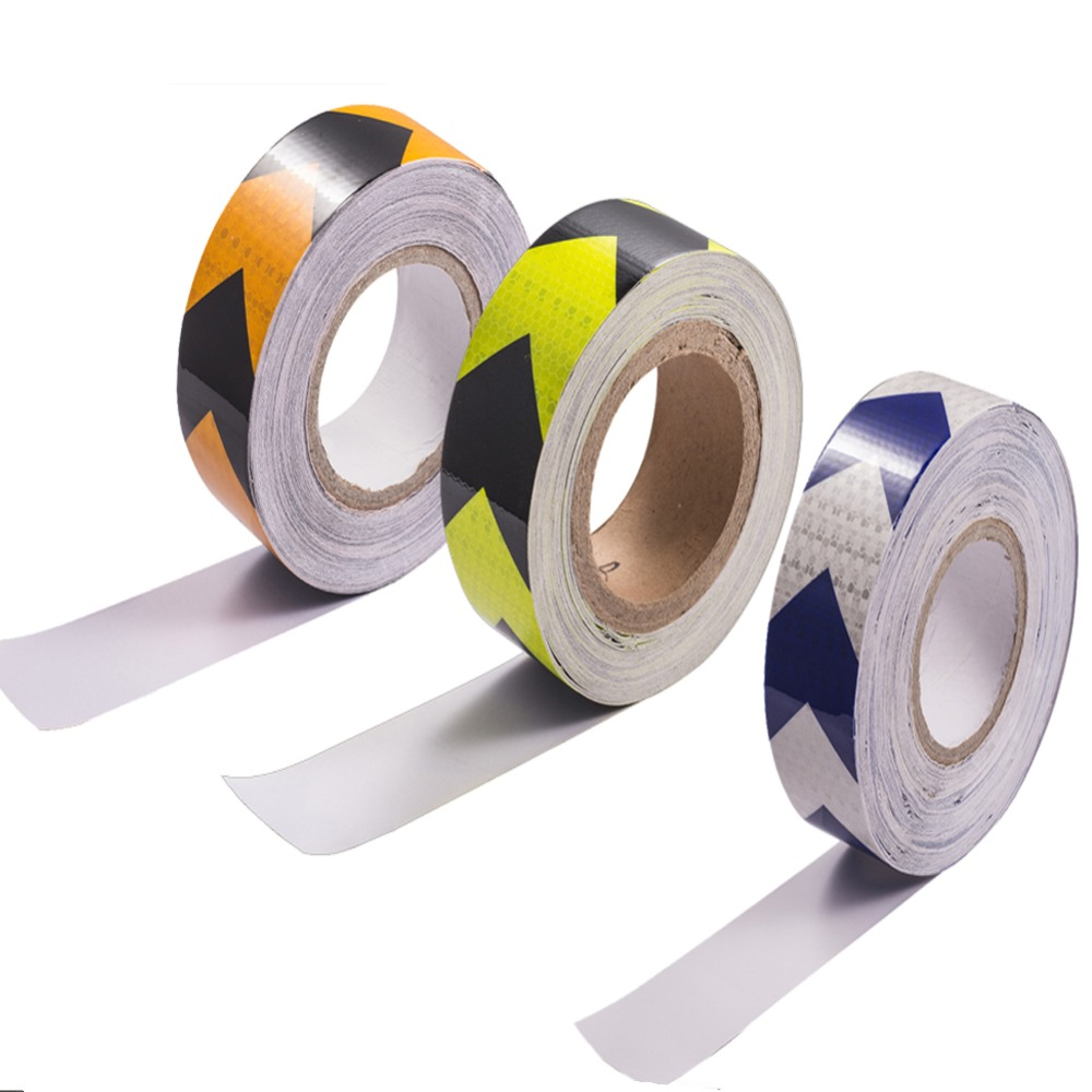 5cm*3m Safety Mark Reflective Tape Stickers Car-styling Self Adhesive Warning Tape Automobiles Motorcycle Reflective Film Reflective Material Roadway Safety