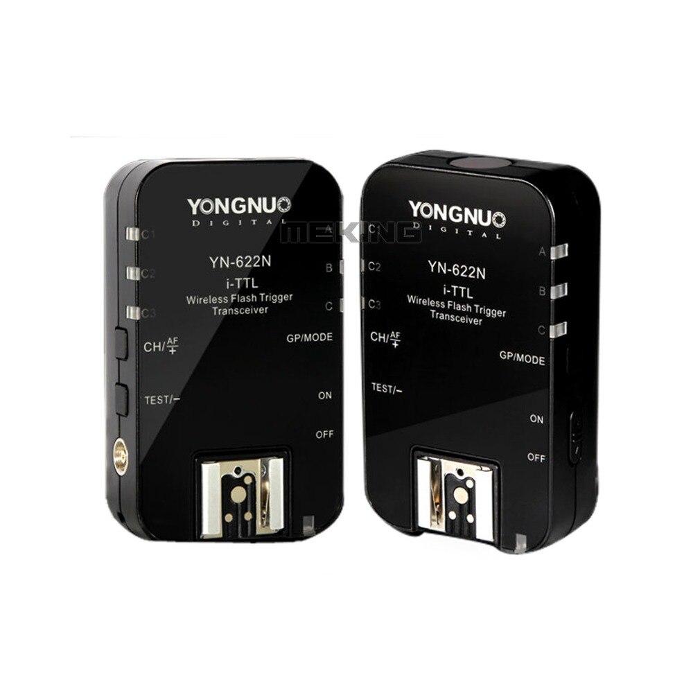 Yongnuo YN622 Wireless ITTL Flash Trigger Radio 1/8000s Shutter Release YN-622N for Nikon D7000 D5200 D5100 D5000 D3200 D3100 вспышка для фотокамеры dslrkit d7000 d3200 d3100 gf2 gh2 e p3 550d k 5 vz 1