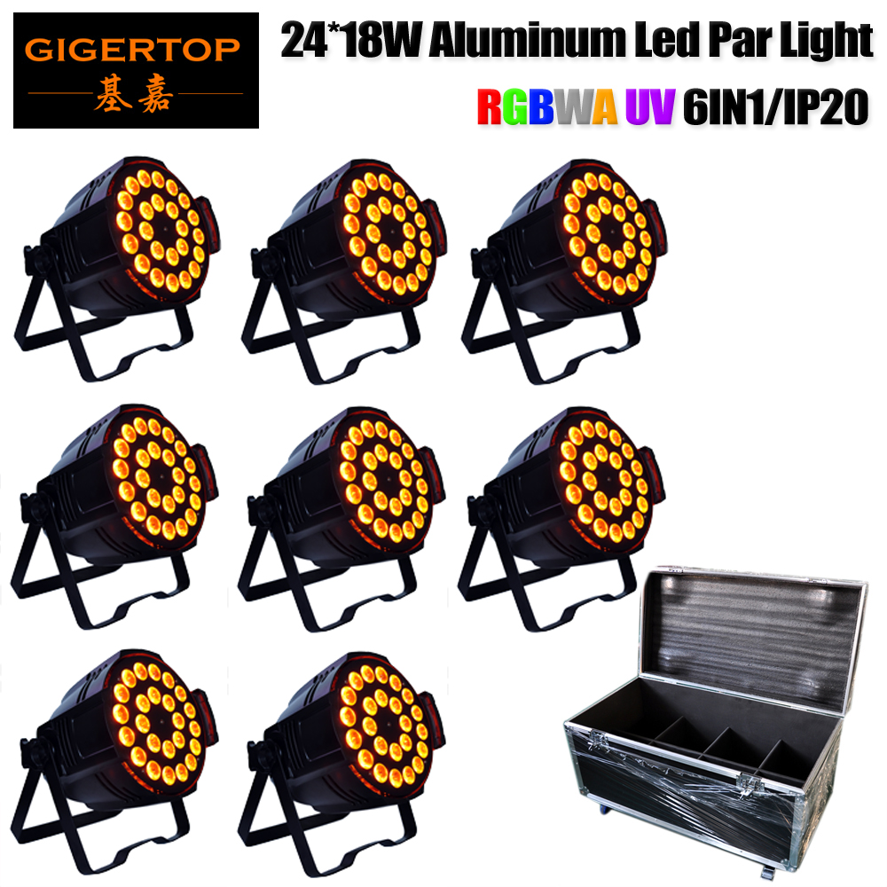 TP P66 8 блок Led Par 24 18 Вт Освещение сцены американский диджей свет Поддержка шторки дополнительно IP20 Indoor Tyanshine Led 8in1 случай дороги